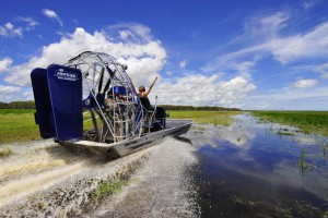 Airboating on Kakadu floodplains-min